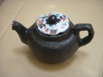 paper mache teapot to go with found lid